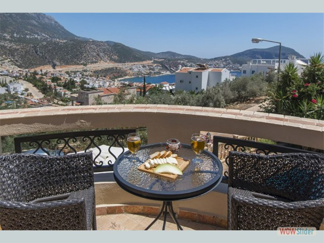 First Floor Balcony with View over Kalkan